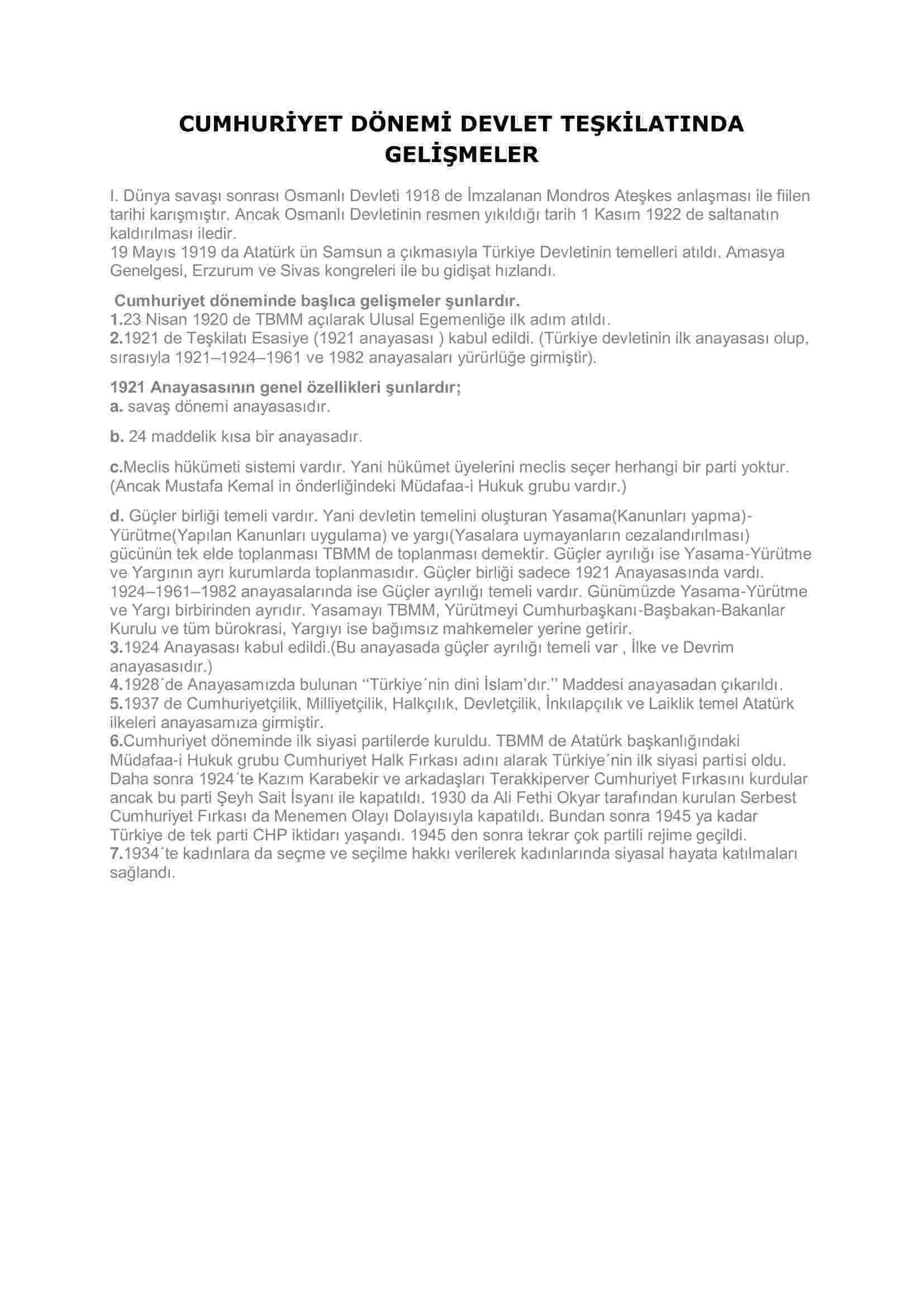 cumhuriyet-donemi-devlet-teskilatinda-gelismeler